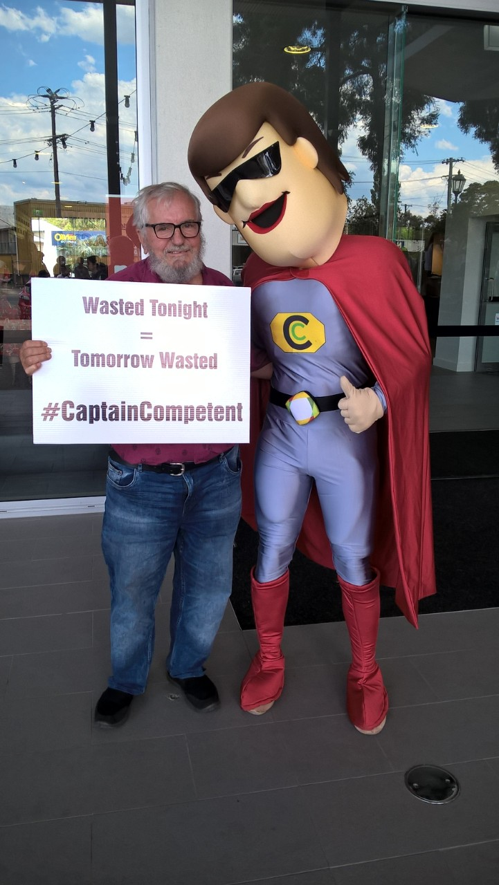 Phil with Captain Competetent